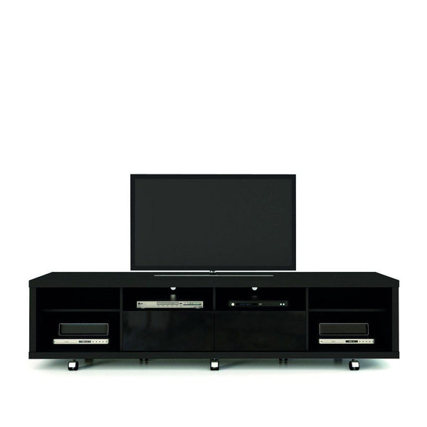 Entertainment Stands - Manhattan Comfort MHC-15313 Cabrini TV Stand 2.2 in Black Gloss and Black Matte | 7898357112445 | Only $597.90. Buy today at http://www.contemporaryfurniturewarehouse.com