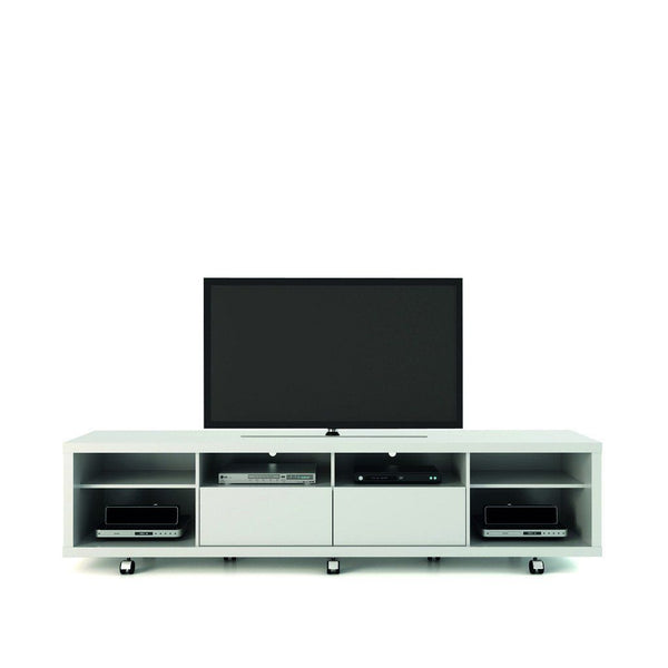 Entertainment Stands - Manhattan Comfort MHC-15384 Cabrini TV Stand 2.2 in White Gloss | 7898357112728 | Only $597.90. Buy today at http://www.contemporaryfurniturewarehouse.com