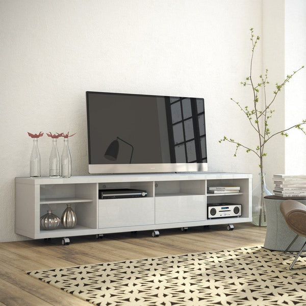 Cabrini Tv Stand 2.2 In White Gloss Entertainment