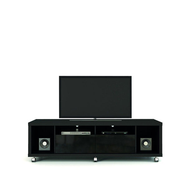 Cabrini Tv Stand 1.8 In Black Gloss And Matte Entertainment