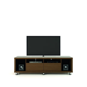 Cabrini Tv Stand 1.8 In Nut Brown Entertainment