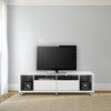 Cabrini Tv Stand 1.8 In White Gloss Entertainment