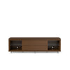 Lincoln Tv Stand 1.9 With Silicon Casters In Nut Brown Entertainment