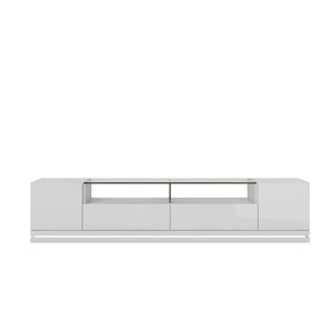 Vanderbilt Tv Stand With Led Lights In White Gloss Entertainment