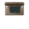 Carnegie Tv Stand And Park 1.8 Floating Wall Panel With Led Lights In Nature Onyx Entertainment