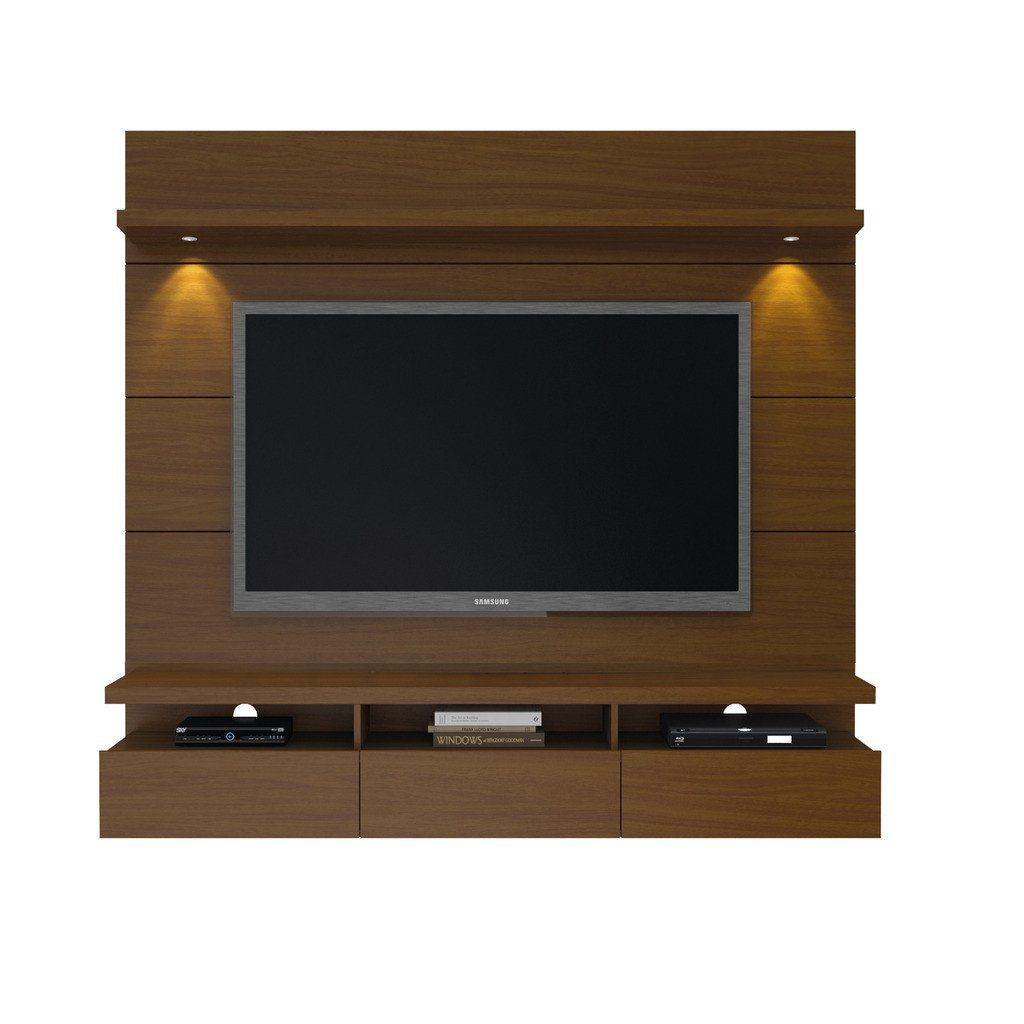 Cabrini 1.8 Floating Wall Theater Entertainment Center In Nut Brown Stand