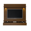 Cabrini 1.8 Floating Wall Theater Entertainment Center in Nut Brown