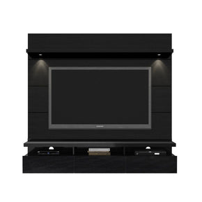 Cabrini 1.8 Floating Wall Theater Entertainment Center In Black Gloss And Matte Stand