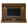 Cabrini 2.2 Floating Wall Theater Entertainment Center in Nut Brown
