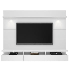 Cabrini 2.2 Floating Wall Theater Entertainment Center In White Gloss Stand