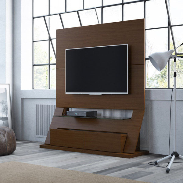 Intrepid Freestanding Theater Entertainment Center In Nut Brown Stand
