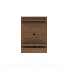 City 1.2 Floating Wall Theater Entertainment Center In Nut Brown Stand