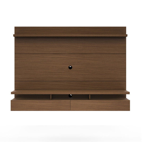 City 2.2 Floating Wall Theater Entertainment Center In Nut Brown Stand