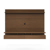 City 2.2 Floating Wall Theater Entertainment Center in Nut Brown