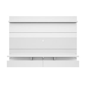 City 2.2 Floating Wall Theater Entertainment Center In White Gloss Stand