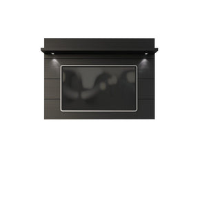 Cabrini Floating Wall Tv Panel 1.8 In Black Matte Entertainment Stand