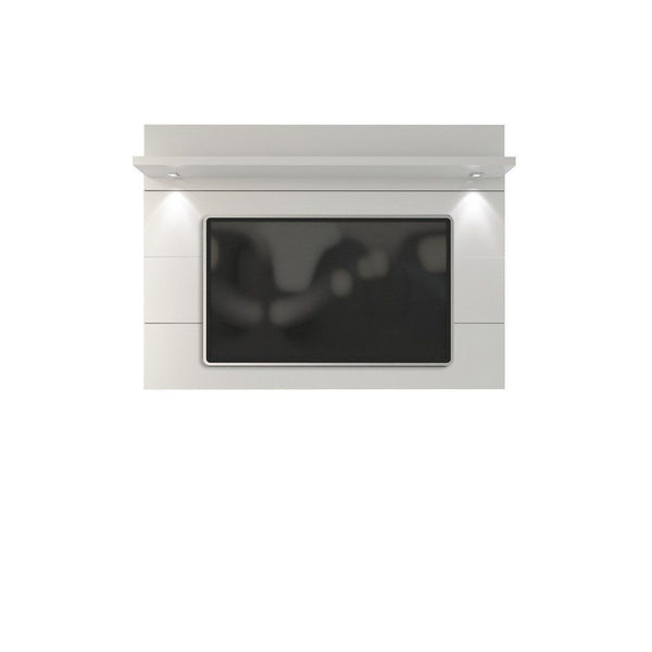 Cabrini Floating Wall Tv Panel 2.2 In White Gloss Entertainment Stand