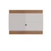 Lincoln Floating Wall Tv Panel 1.9 With Led Lights In Maple Cream And Off White Entertainment Stand