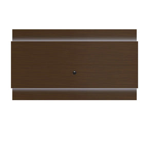Lincoln Floating Wall Tv Panel 2.4 With Led Lights In Nut Brown Entertainment Stand