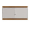 Lincoln Floating Wall TV Panel 2.4 with LED Lights in Maple Cream and Off White