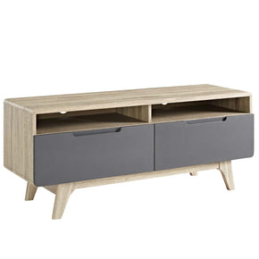 "Entertainment Stands - Modway EEI-2533-NAT-GRY Origin 47"" Mid-Century Modern TV Stand Walnut or Natural Wood 