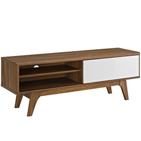 Envision 44? Mid-Century Modern Tv Stand Walnut / White Entertainment