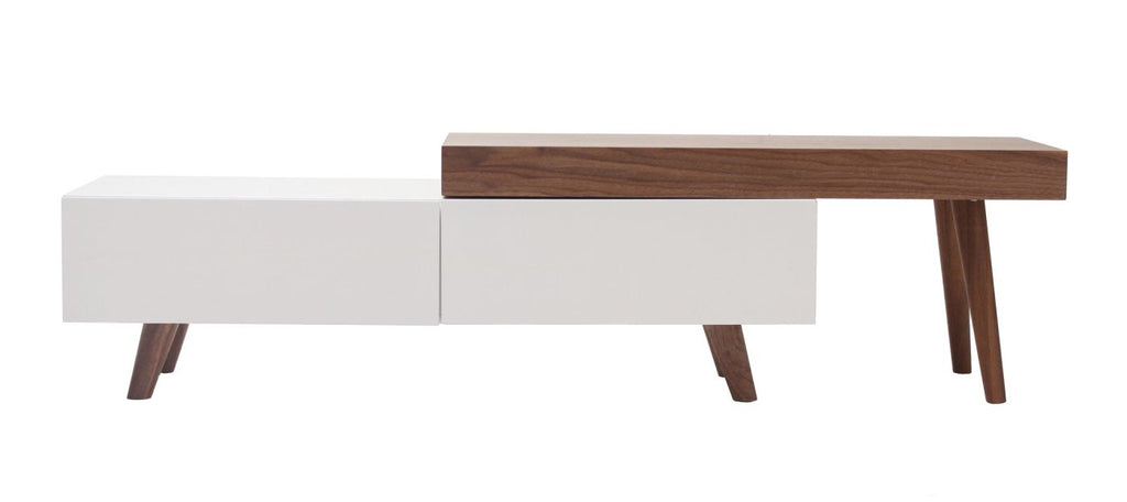 Entertainment Stands - Moes Home Collection AD-1052-18 Rico Tv Table Walnut | 849043022637 | Only $945.00. Buy today at http://www.contemporaryfurniturewarehouse.com