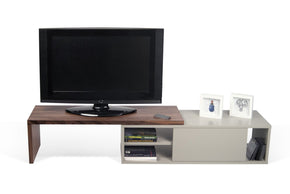 Move Tv Table Walnut / Matte Grey Entertainment Stand