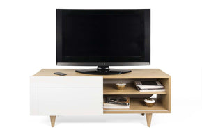 Entertainment Stands - TemaHome 9003.639036 Cruz Tv Table Oak / Pure White | 5603449639036 | Only $520.00. Buy today at http://www.contemporaryfurniturewarehouse.com