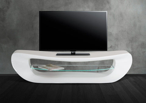 Modrest Crest - Contemporary White Tv Stand Entertainment