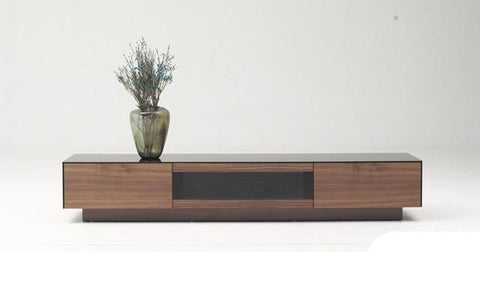 Entertainment Stands - Vig Furniture VGHB215F-WAL Modrest Darius Modern Walnut TV Stand | 840729146265 | Only $769.80. Buy today at http://www.contemporaryfurniturewarehouse.com