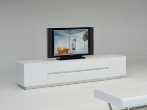 A&x Skyline Modern White Crocodile Tv Entertainment Center Stand
