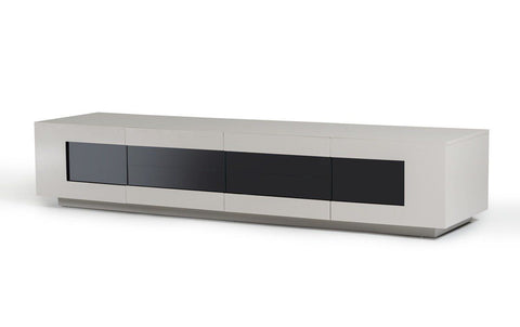 Modrest Frost - Modern Glossy Light Grey Tv Unit Entertainment Stand