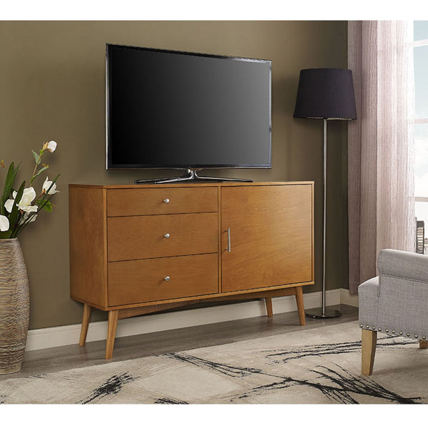 "Entertainment Stands - Walker Edison AH52CMCAC 52"" Mid-Century TV Console - Acorn 