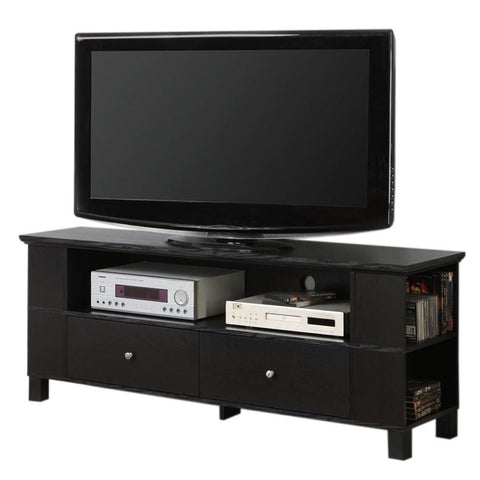 60 Black Wood Tv Stand Console Entertainment