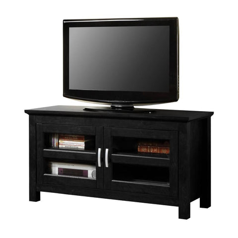 44 Black Wood Tv Stand Console Entertainment