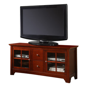 52 Brown Wood Tv Stand Console Entertainment