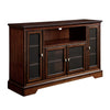 52 Brown Wood Highboy Tv Stand Entertainment