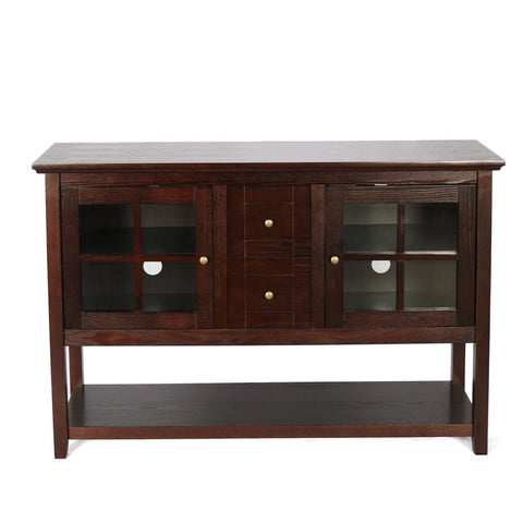 52 Wood Console Table Tv Stand - Espresso Entertainment