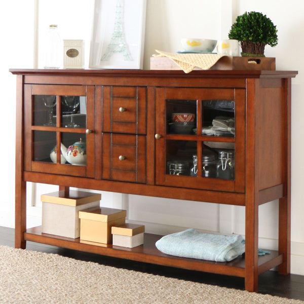 Walker edison 52 wood console table tv stand rustic for Table stand i 52 compose