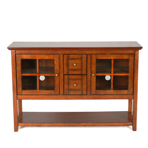 52 Wood Console Table Tv Stand - Rustic Brown Entertainment