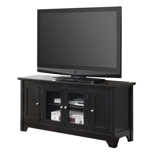 52 Black Wood Tv Stand Console Entertainment
