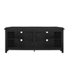 58 Wood Corner Tv Console - Black Entertainment Stand