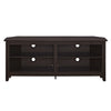 58 Wood Corner Tv Console - Espresso Entertainment Stand