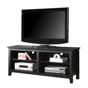 58 Black Wood Tv Stand Console Entertainment