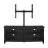 58 Wood Tv Console With Mount - Black Entertainment Stand
