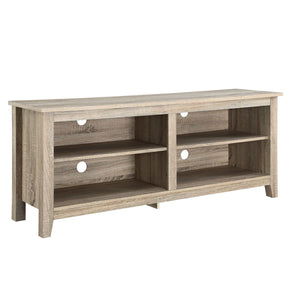 58 Natural Wood Tv Stand Console Entertainment