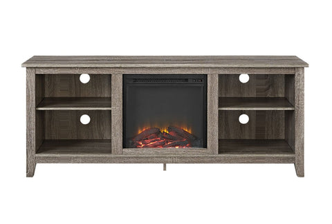 58 Driftwood Tv Stand With Fireplace Insert Entertainment