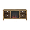 58 Barnwood Tv Stand With Fireplace Insert Entertainment