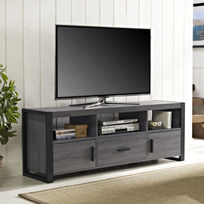 60 Tv Stand Console - Charcoal Entertainment